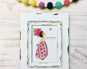 Dream Big Little Frida Kahlo Art Print