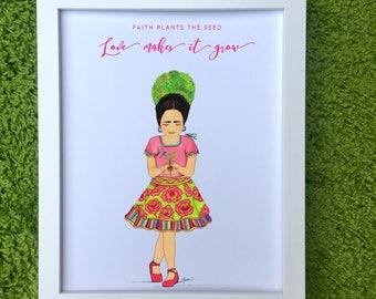 Faith ~ Little Frida Kahlo Art Print