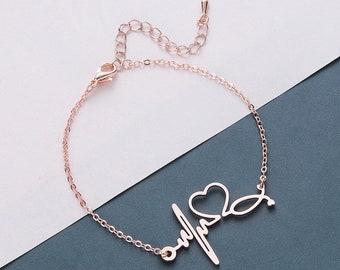 Nursing School Graduation -Simple Bracelet RN Jewelry Nurse Bracelet Stethoscope Bracelet RN Bracelet Doctor Bracelet Nurse Gift