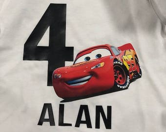 Lightning McQueen Personalized Birthday Shirt