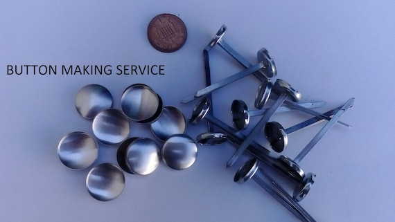 10 X No 30 Prong Back Upholstery Buttons Made Using Your Etsy