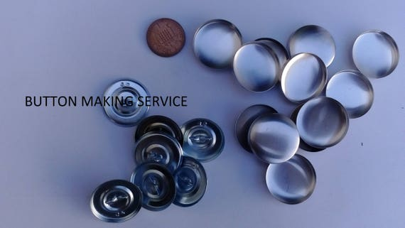 10 X No 30 Prong Back Upholstery Buttons Made Using Your Fabric