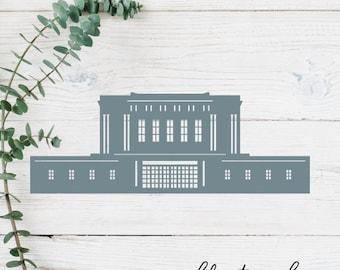 Mesa, Arizona LDS Temple Cut File - Digital Download - SVG, Vector, Cricut, Silhouette, Clip Art