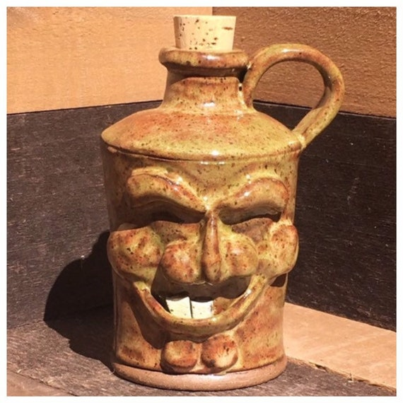 Toothy Face Jug/Vase