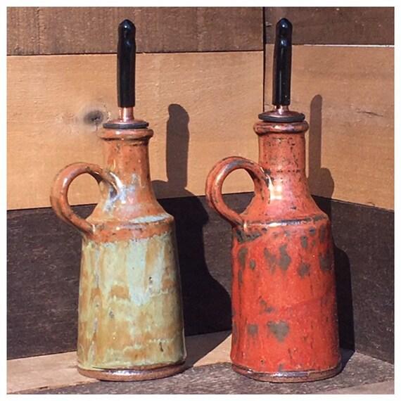 Handbuilt Stoneware Oil/Vinegar Cruets