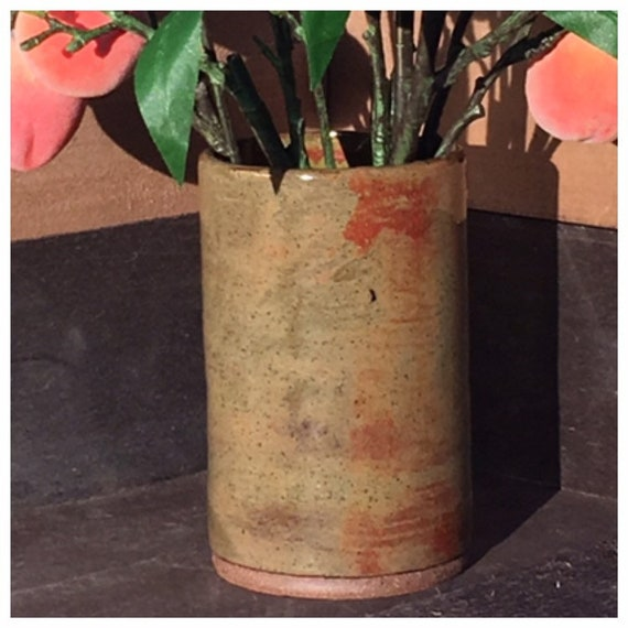 Rainforest Jasper Bucket Vase/Utensil Holder
