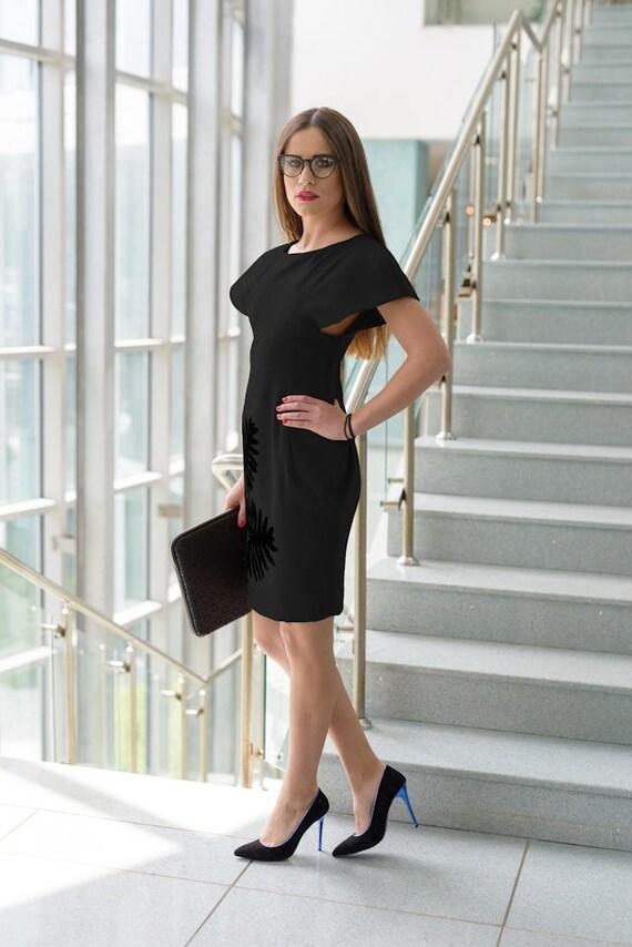 a5861cc9d72d Business Dress Avant Garde Dress Hand Made Clothing Black | Etsy