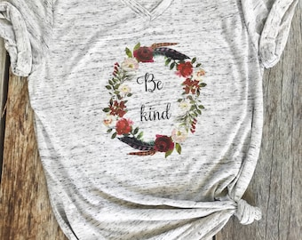 87cfa5f22 Be Kind Shirt, Boho, Bohemian, Gypsy, Graphic Tee