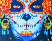 Beautiful quot Day of the Dead Lady quot (La Catrina) Bandana Scarf Headband Face Mask