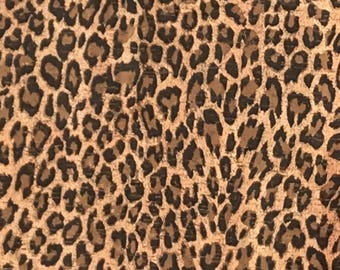 Leopard print etsy cork fabric leopard print cork ecofriendly made in portugal thecheapjerseys Gallery
