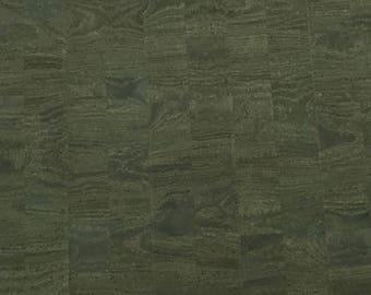 Cork Fabric - Olive Green Cork - cork and cloth - Cork