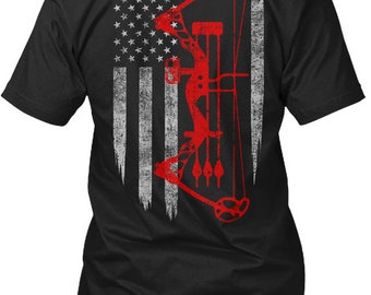 a284c88f Archery Bow Hunting Flag Hanes Tagless Tee Tshirt