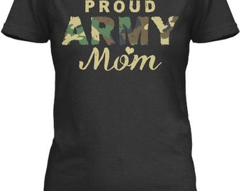 a62dcf019a99 Proud Army Mom Show Your Pride Shirt - Gildan Women's Relaxed Tee