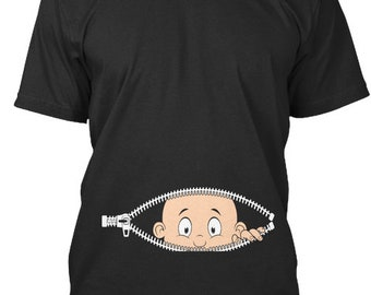 c808ff154aa8f Cute Peeking Baby Maternity T-Shirt - Teespring Premium Tee