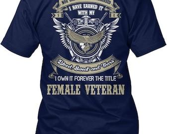 Female Veteran Hanes Tagless Tee Tshirt 67cff48b7