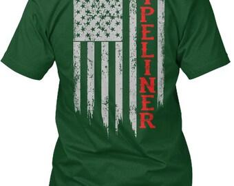 a8fe9e855ad Pipeliner Us Flag Shirt Hanes Tagless Tee Tshirt
