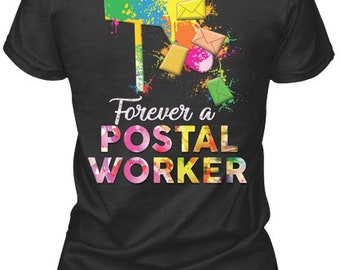 b26183635 Awesome Postal Worker Shirt - Gildan Women's Tee - Black