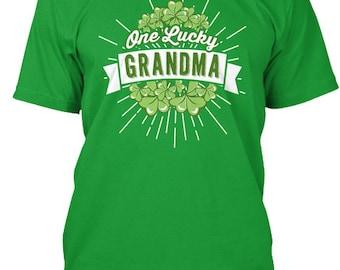 3c69e1a8 One Lucky Grandma - Teespring Premium Tee