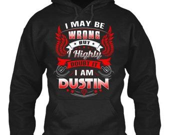 93dd7d996ca8 Never Doubt Dustin - Gildan 8Oz Heavy Blend Hoodie