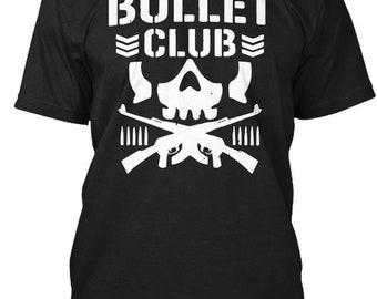 Bullet Club New Japan Pro Wrestling Hanes Tagless Tee Tshirt