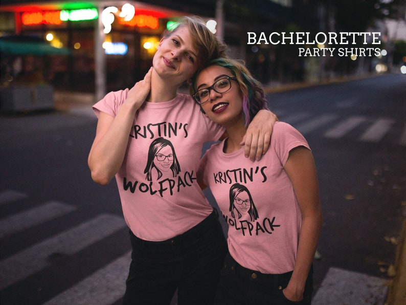 Bachelorette Party Tanks Customized With The Bride/'s Face and Name!