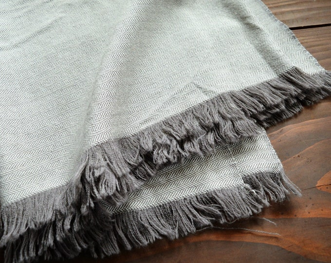 Herringbone wool cloak / fabric / blanket, handwoven pure wool fishbone blanket for Vikings and historical reenactors