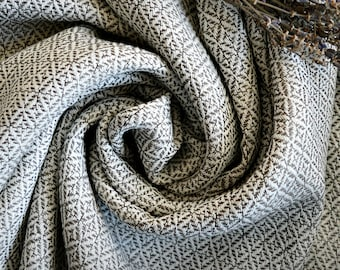 Diamond twill wool, very thin hand woven natural wool fabric in broken diamond twill, Viking clothing, Vendel, Anglo-Saxon