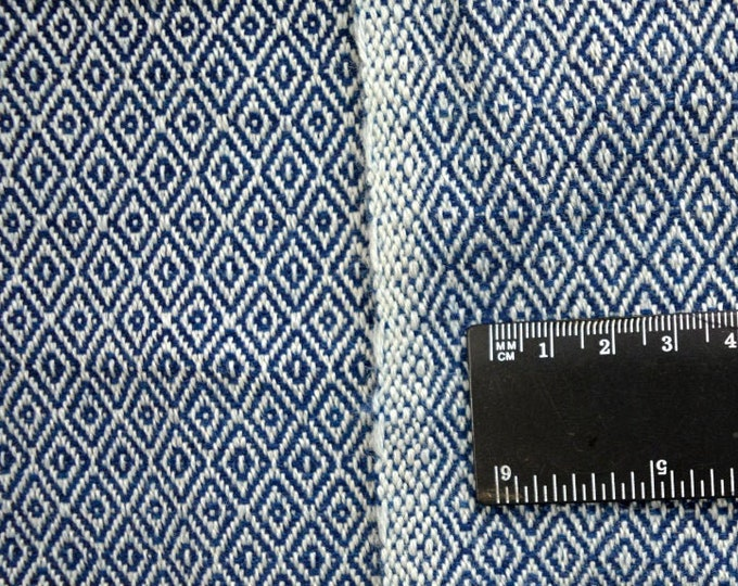 Last 2 meters of indigo dyed handwoven wool fabric, Vikings, Anglosaxon reenactment, Vendel, historical fabric
