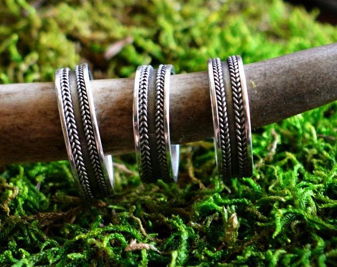 Silver early medieval ring band, Viking ring, Slavic ring, Great Moravian ring, Vikings, Viking jewellery, Slavic jewelry
