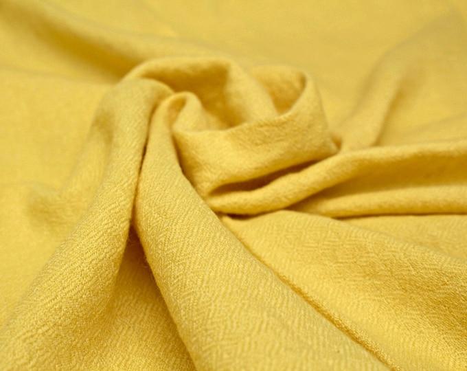 Yellow plant dyed diamond twill wool fabric, handwoven natural wool, diamond weave wool, Vikings, Viking clothing, Anglo-saxon