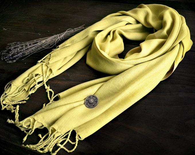 Plant-dyed handwoven silk scarf, diamond twill silk scarf, diamond weave fabric, Viking clothing, Vendel clothing