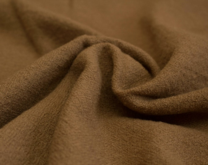 Brown plant dyed diamond twill wool fabric, handwoven natural wool, diamond weave wool, Vikings, Viking clothing, Anglo-saxon
