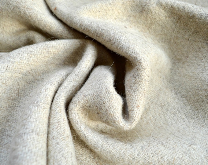 Thick handwoven diagonal twill wool fabric, 100% natural wool fabric, Viking clothing, pure wool for historical clothing