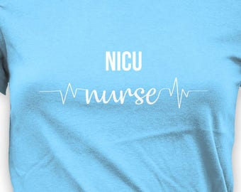 cf195801823b8 Cute Nurse T Shirt NICU Nurse Gifts for Nurses TShirt RN Shirt | Etsy