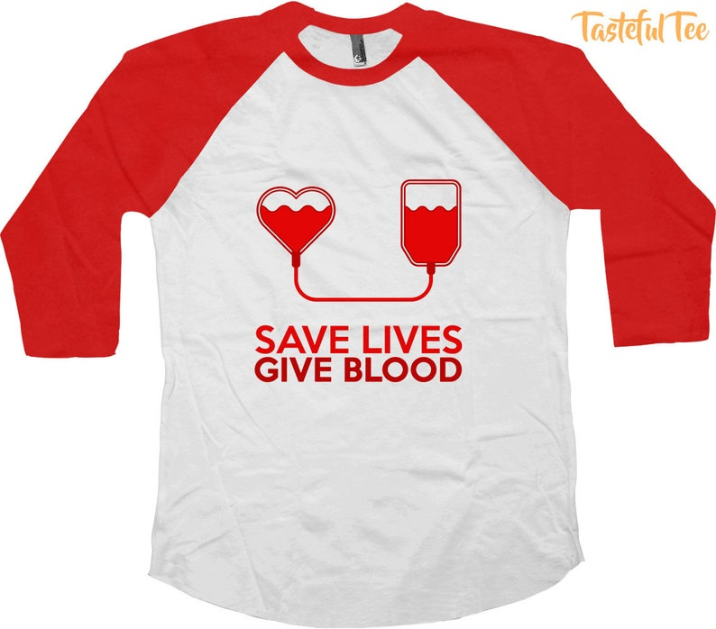 5b20feb2353a9 Save Lives Give Blood Tshirt Gifts To Support Blood Donation Its in You to  Give Donate Blood Shirts TST-85009