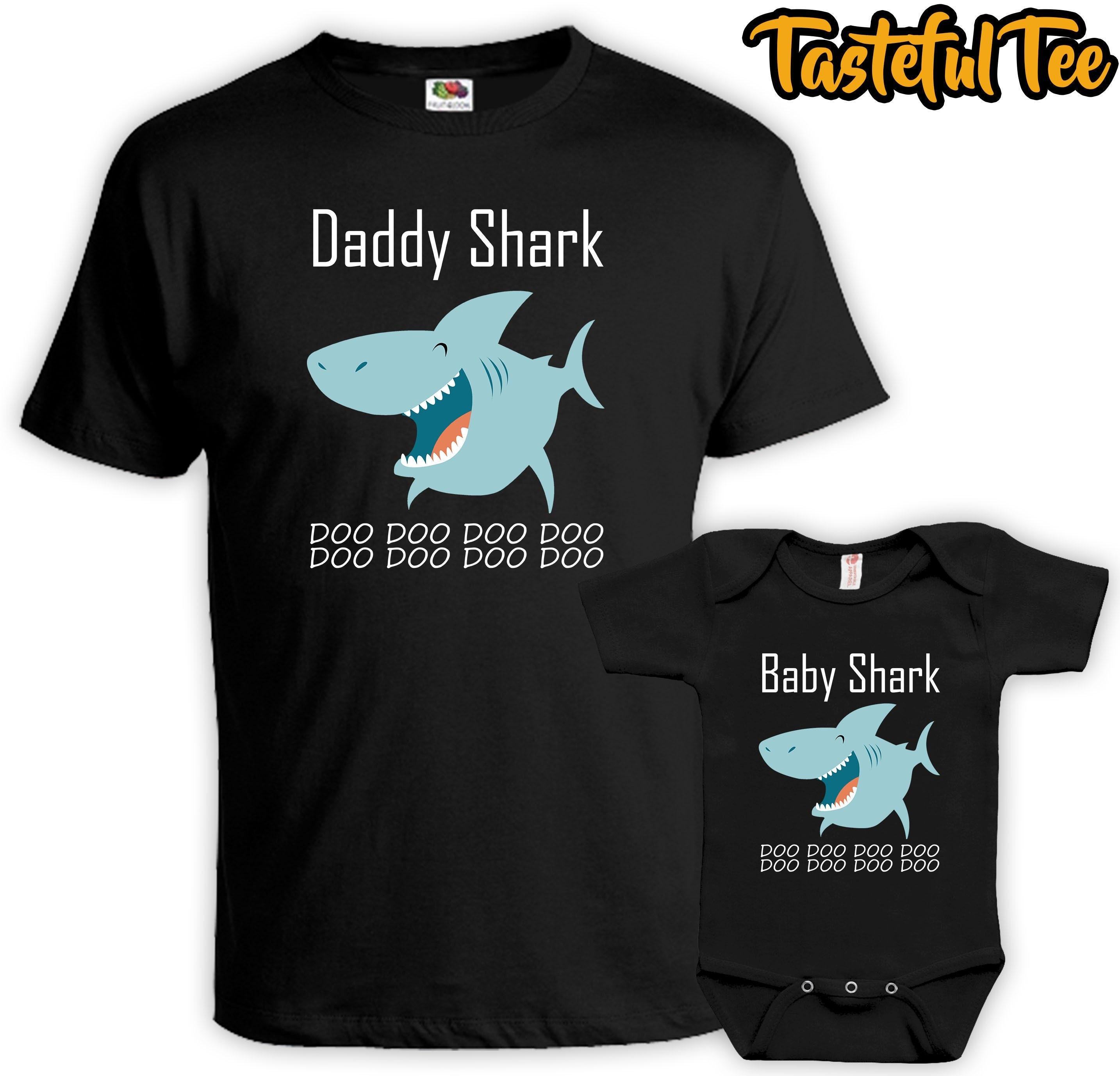 1c0cf4bb3e9c1 Baby Shark Matching Father Son Daughter Shirt Set Daddy Shark | Etsy