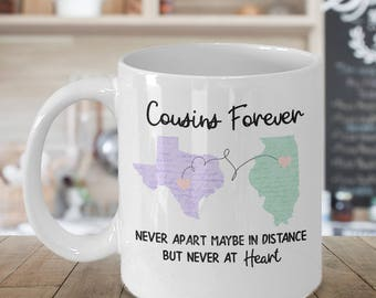 Cousins Gift Mug Long Distance Friendship State To Cousin Birthday Moving Away Home