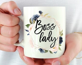Boss Lady Mug Gift For Woman Girl Coffee Female Birthday