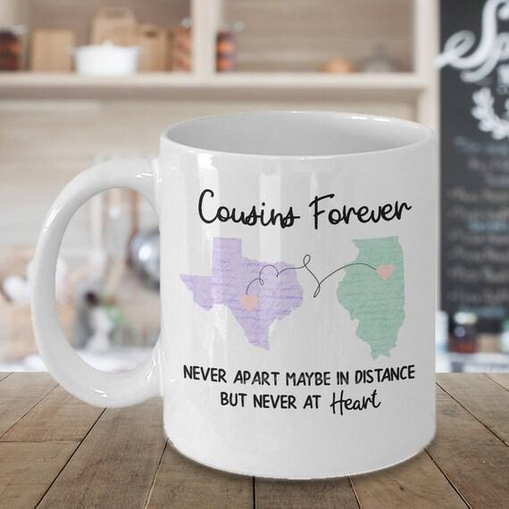Cousins Gift Mug Long Distance Friendship