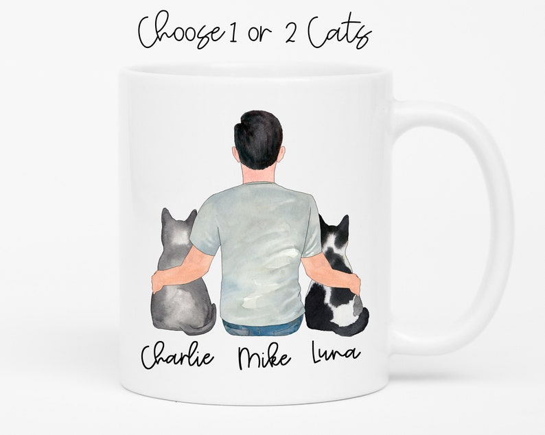 Personalized Cat Dad Mug Cat Lover Gift Best Cat Dad Ever image 1