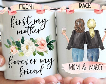 Personalized Mom Mug, Mom Birthday Gift From Daughter, Mothers Day Gift For Mom, Custom Mom And Daughter Gift, Daughter Gift From Mom