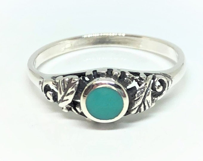 Sterling Silver Blue Imitation Turquoise Ring