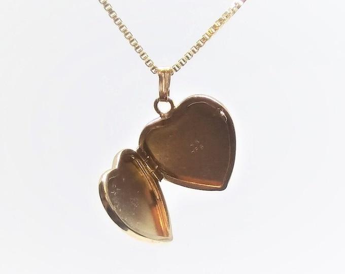 14k Gold Heart Locket
