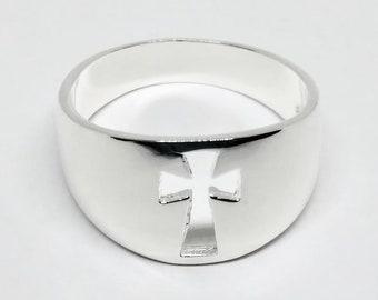 Mens Sterling Silver Celtic Cross Ring