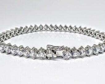 CZ Tennis Bracelet in Sterling Silver