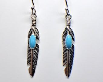 Feather Earrings Sterling Silver