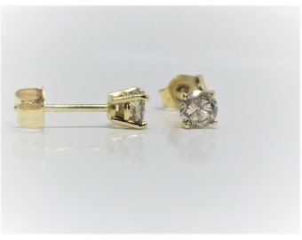0.35 TCW 14k Yellow Gold Diamond Stud Earrings