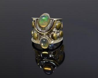 Natural opal designer ring