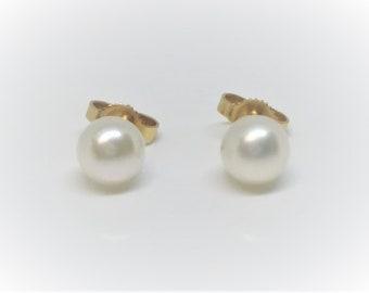 Freshwater Cultured Pearl Stud Earrings