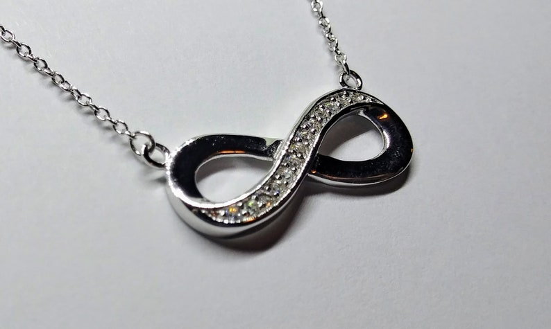 Sterling Silver Infinity Knot Necklace Infinity Pendant